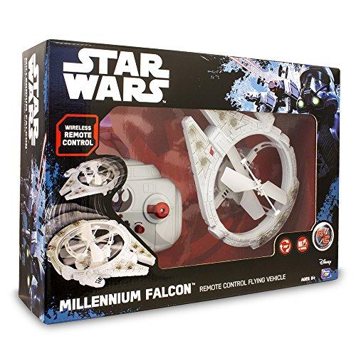 Star Wars Drone Volador Millenium Falcon, Unico (Giochi Preziosi Spagna TWR08000)