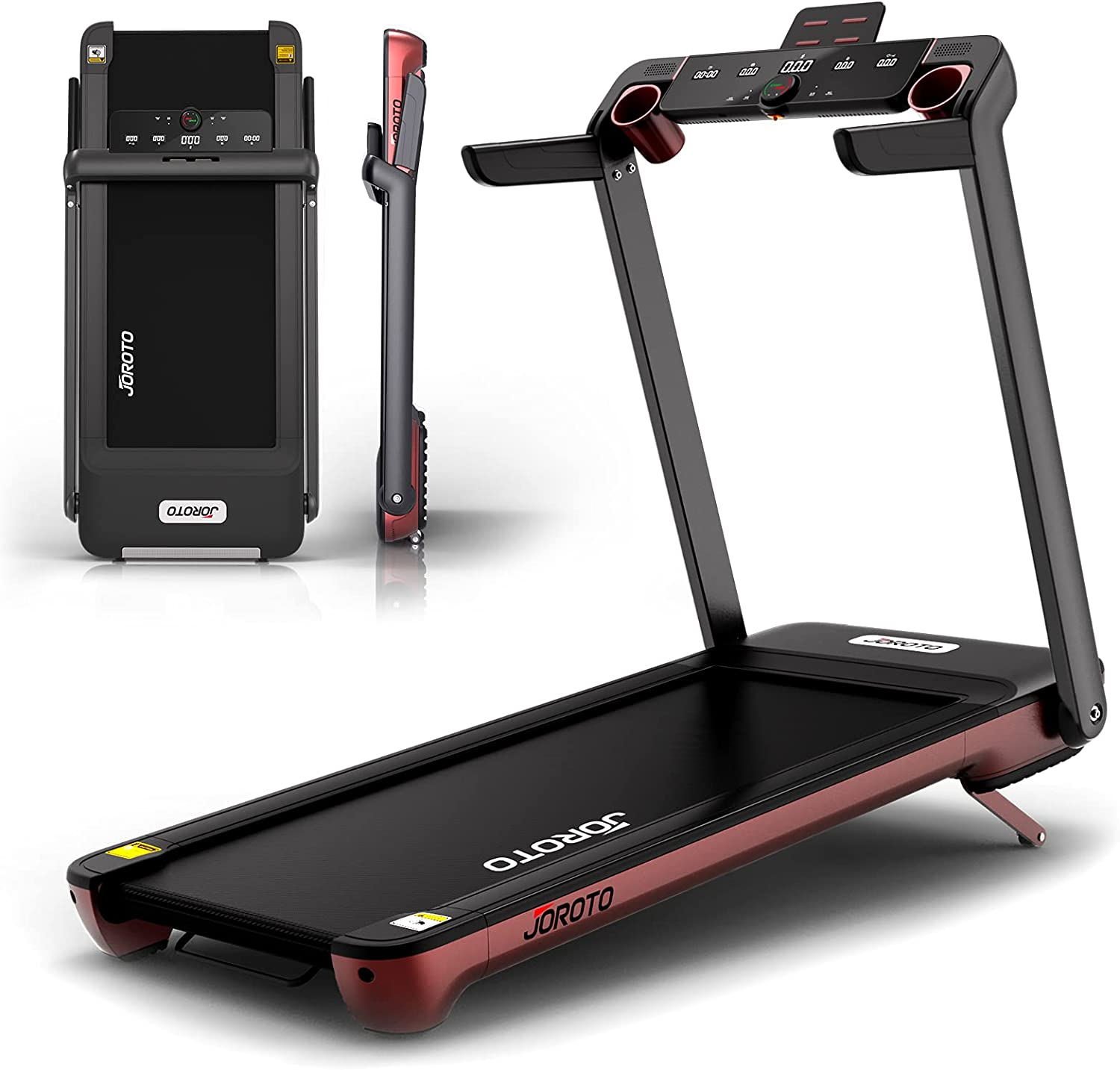 Folding Treadmill with Auto Incline Electric Running Machine Treadmills for Home with LCD Monitor 20