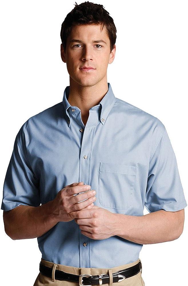 Edwards Men's Easy Care Short Sleeve POPLIN Shirt