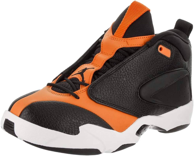 Jordan Nike Men's Jumpman Quick 23 Black Black orange Peel Sail Basketball shoes 8.5 Men US