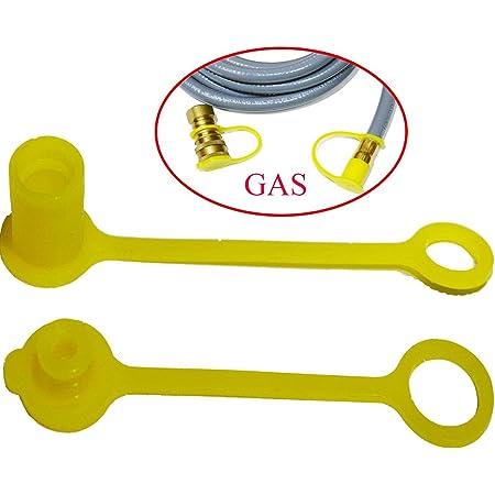 Propane LP Gas Dust Cap Plug Covers Set 3//8/'/' 2pcs Quick Connect Durable
