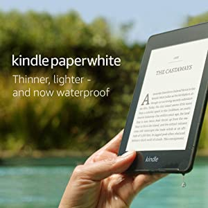 """Kindle Paperwhite   Waterproof, 6"""" High-Resolution Display, 8GB—with Ads—Black (Previous generation)"""