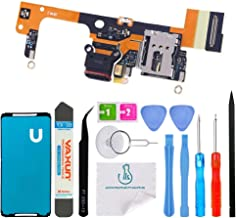 OmniRepairs USB Charging Dock Port Flex Cable Daughterboard Replacement with Microphone and Sim Card Reader Compatible for Google Pixel 3 XL 6.3 (All Carriers) with Adhesive and Repair Toolkit