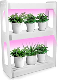 Gluckluz LED Grow Light Spectrum Stackable Desk Planter Tabletop Growing System Indoor Herb Gardening for Plant Grow Succu...