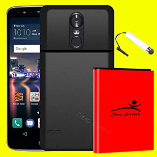 High Capacity 8000mAh Extended Battery Hard Back Cover Screen Touch Pen for LG Stylo 3 Plus TP450 T-Mobile - Deep Stretch Specifically for LG Stylo 3 Plus only, not for Regular LG Stylo 3