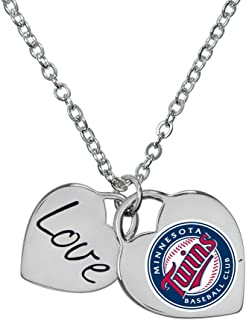 Game Time Minnesota Twins Officially Licensed Heart Necklace 101613