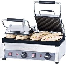 Grill professionnel double à panini - 490 x 520 mm - Casselin