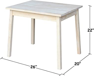 International Concepts Unfinished Child's Table
