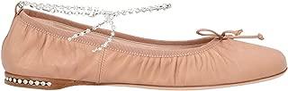 Miu Miu Luxury Fashion Womens 5F916CF005038F0A48 Pink Flats | Spring Summer 20