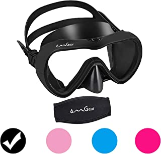 OMGear Diving Mask Snorkeling Gear Kids Adult Snorkel Mask Dive Goggles عینک شنا سیلیکون Scuba Free Diving Spearfishing Anti-Leak Anti-Fog Band Neoprene Cover Cover