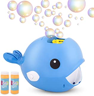 Beyondtrade Bubble Machine Automatic Whale Bubble Maker Over 2000 Bubbles Per Minute Bubble Blower with 2x100ml Liquid Outdoor Toy for Party, Outdoor & Indoor Games, Best Bubble Toy Gift for Kids