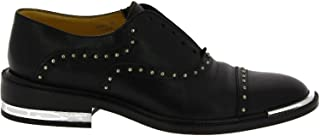 BARBARA BUI Women's H5620VL10BLACK Black Leather Lace-Up Shoes