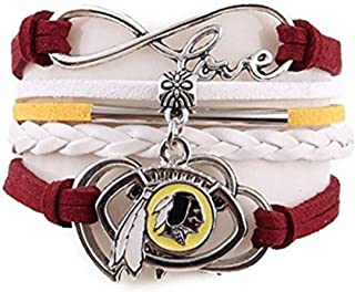 Love Washington Redskins Charm Bracelet