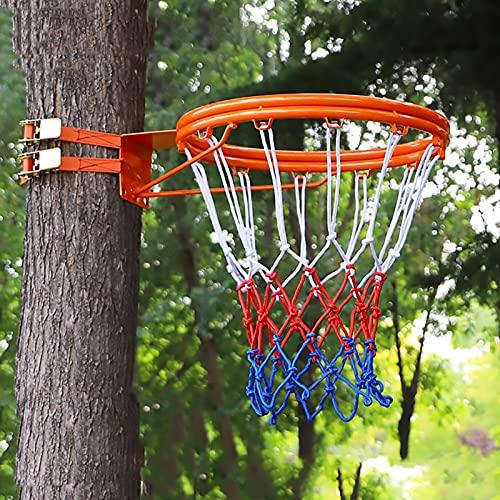 Aro de Baloncesto Canasta Tableros Borde Doble Aro de Baloncesto por Adultos Niños Adolescentes, Portátil Exterior Anillo de Baloncesto Aro de Baloncesto y GOL, Instalación fácil (Color : Orange)