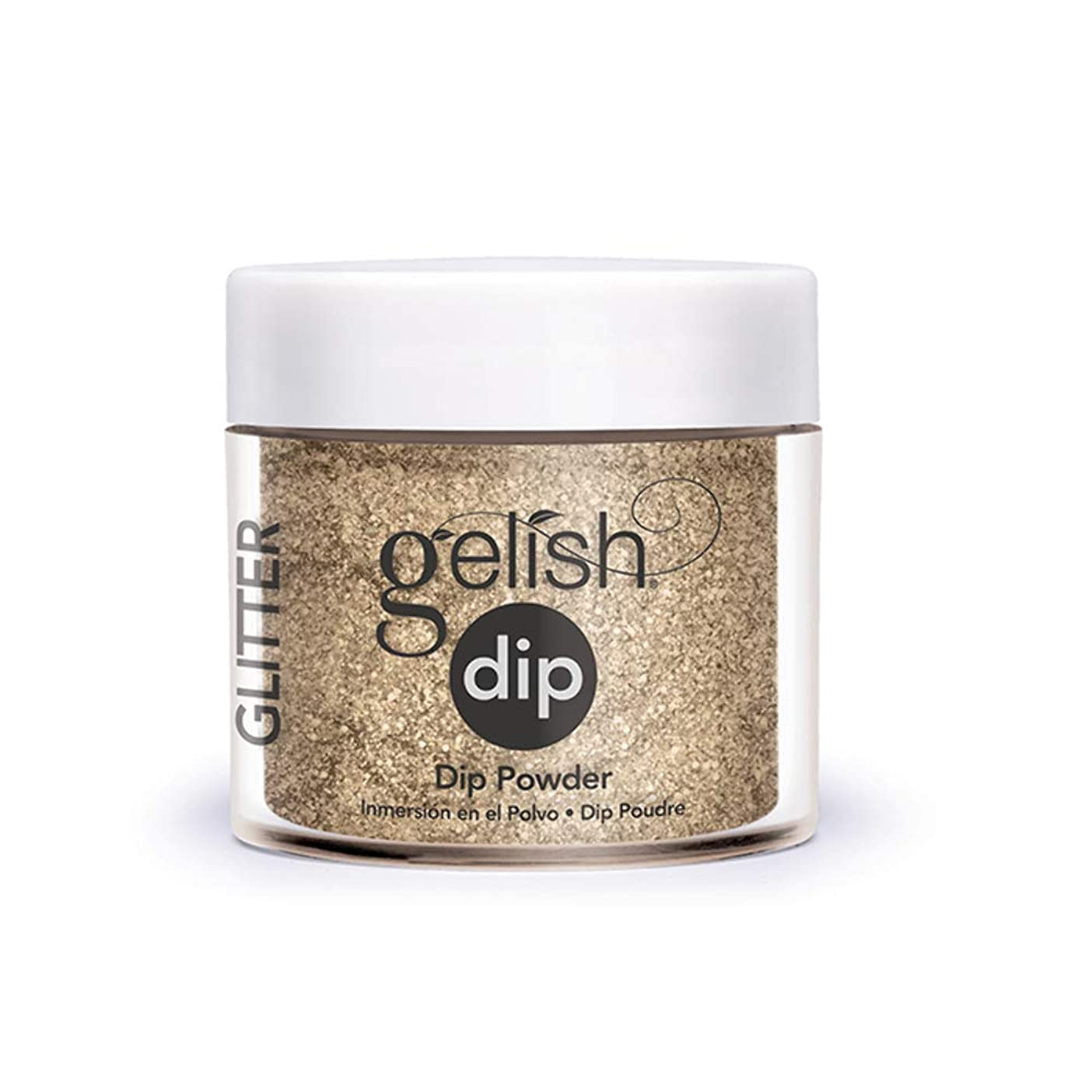 住人生産性池Harmony Gelish - Acrylic Dip Powder - Glitter & Gold - 23g / 0.8oz