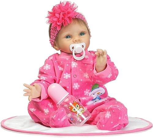 Broadroot 55cm Größe Blaume mädchen Simulieren Reborn Baby Puppe Kinder Schlafen Playmate Baumwolle Silikon Spielzeug Geschenke