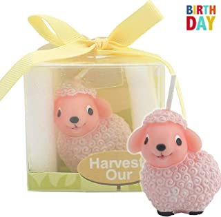 TIHOOD Creative Lamb Cartoon Birthday Candle, Smokeless Cake Candle and Party Supplies, Hand-Made Cake Topper Decoration, Great Gift