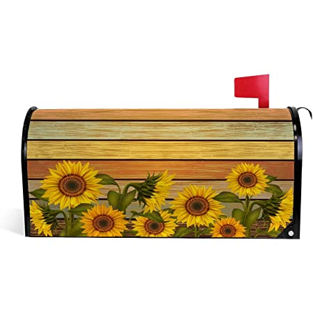 My Daily Magnetic Mailbox Covers Old Wooden Background Decorative Mailwraps Vintage Mailbox Post Cover Oversized Mailbox Covers Mesralyoum Patio Lawn Garden