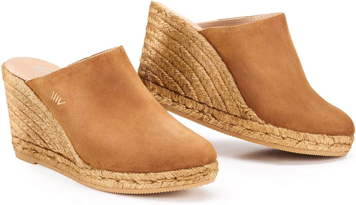 VISCATA Handmade in Spain Estreta Soft Suede 3  Clog, Slip-on, Closed Toe, Espadrilles Heel