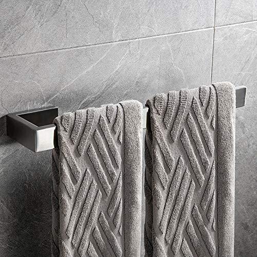 CCKOLE Handtuchhalter handtuchstange handtuchring Wandmontage 304 Edelstahl Gebürstet Badetuchhalter Bad handtucher Badetuchstange 35cm(Gebürstet)