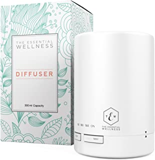 Essential Oil Diffuser Aromatherapy Diffuser - Diffusers for Essential Oils - Cool Mist Humidifier and Essential Oils Diffuser - Aroma Diffuser BPA Free 7 Colors & 4 Timer Settings Auto Shut Off 300ml