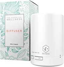 Ultrasonic Diffuser - White Essential Oil Diffuser - Aroma Diffuser with Timer - BPA Free - Auto Shut Off 300ml