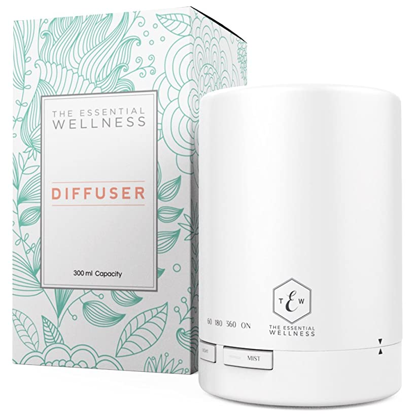 The Essential Wellness Essential Oil Diffuser and Aromatherapy Diffuser - BPA Free Diffusers for Essential Oils 6-8 Hours Continuous Diffusing - Quiet Aroma Diffuser 7 Colors Auto Shut Off 300ml
