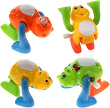 TOYMYTOY 4pcs Wind Up Toys Funny Orangutan Monkey Frog Bear Clockwork Toys Tumbling Walking Toys for Christmas Party Favor...
