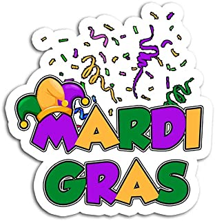 Hand Wooden Customizable Sticker Mardi Gras for Women Ladies Artistic Stickers Personalize (3 pcs/Pack)