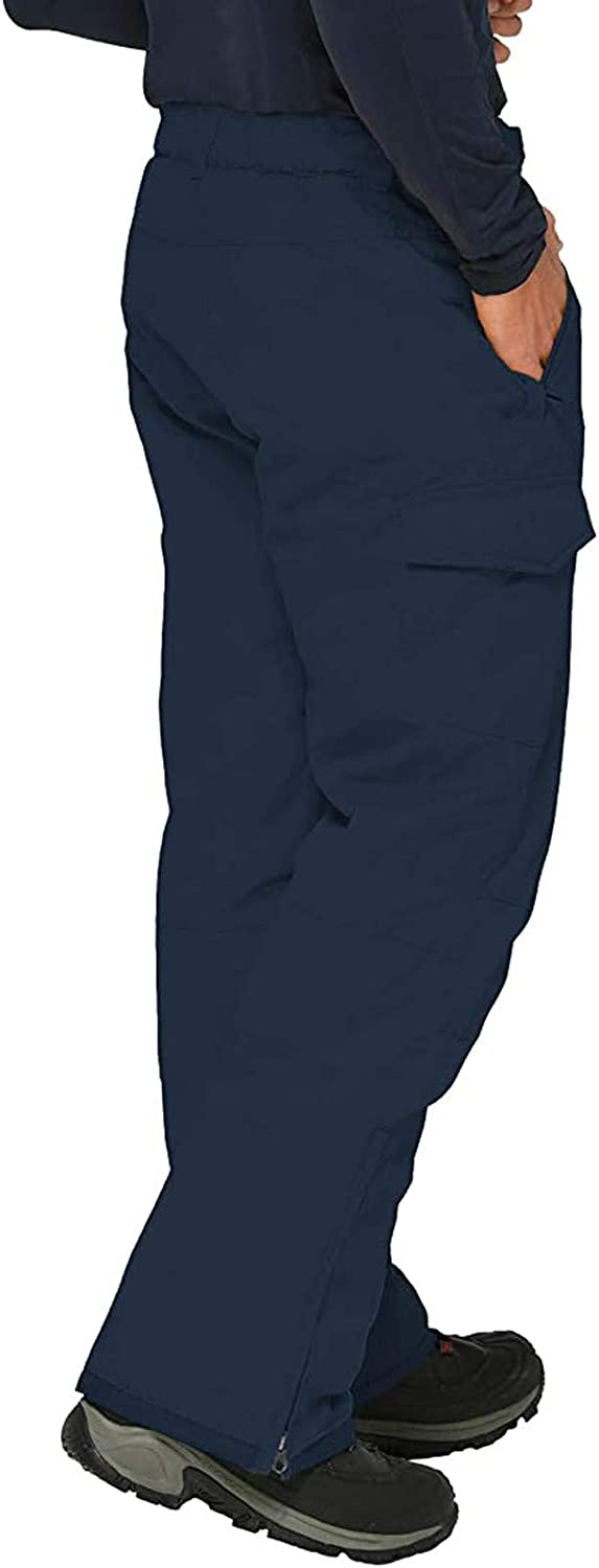 acction Women and Men's Insulated Snow Overalls Solid Color Pocket Trousers Waterproof Ski Pants