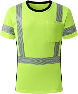 Hi-Vis Wicking Reflective Safety Polo Shirt Long Sleeve ANSI Class 3