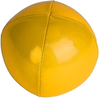 Aisheny 3Pieces PU Juggling Ball Filled Particle Ball Clown Hand Throw Acrobatics Toy Ball Yellow