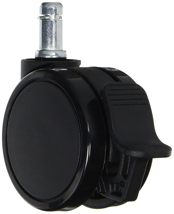 極端な中間取得するAKRacing ゲーミングチェア用 ストッパー付き双輪キャスター PU(ポリウレタン)製 ブラック 5個セット