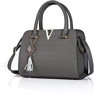 Hebang Handbags for Women Fashion Ladies PU Leather Top Handle Satchel Shoulder