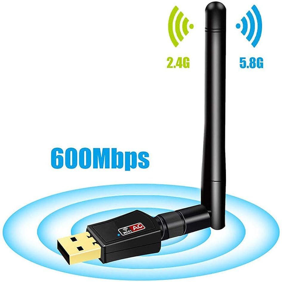 最終繕うマーケティングUSB WiFiアダプター、1200Mbps、600Mbpsデュアルバンド5GHzワイヤレスネットワーク、2.4G/300Mbps、5G/866Mbpsサポート、WPA/WPA2/W EP/15-acX/WMM暗号化。