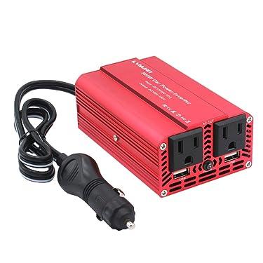 LVYUAN 500W Power Inverter DC 12V to 110V AC Car Inverter with 3.1A Dual USB Car Adapter