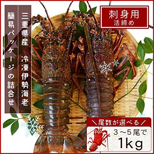三重県産 伊勢海老 詰合せ 4尾で約1kg 刺身用 瞬間 冷凍 伊勢エビ
