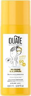 OUATE - Ma Brume 1,2,3 Soleil - Protection Solaire SPF50 pour Enfants - 4-11 Ans - Visage et Corps - Tiaré/Pêche/Ylang -Yl...