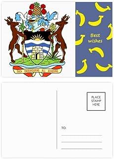 Saint John's Antigua & Barbuda Emblema plátano Postcard Set Thanks Card Mailing Side 20pcs