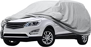 Audew Car Cover SUV Cover Waterproof /Windproof/Dustproof/Scratch Resistant Car Cover Sun Outdoor UV Protection Full Car Covers For SUV Car 210'' L