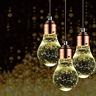 Beautiful Home Decoration Lamps LED Ceiling Chandelier Modern Edison Bulbs Design Crystal Pendant Light Iron Bar Kitchen D...