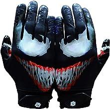 Taqcha Villian Football Gloves - Tacky Grip Skin Tight Adult Football Gloves - Enhanced Performance Football Gloves Men - ...