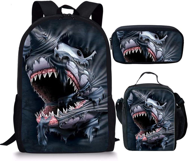 Showudesigns Z-C24, Kinderrucksack Mehrfarbig Shark Cool Cool Cool Sets B07G39CLMB | Üppiges Design  a7b7bf
