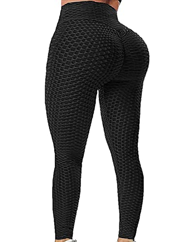 Butt Lifting Anti Cellulite High Waisted Leggings for Women Ruched Workout Yoga Pants Booty Tights
