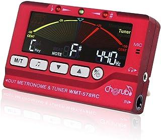 Cherub WMT-578RC Metrónomo 3 en 1 para afinador de saxofón y flauta (rojo