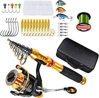 11Pcs Telescopic Sea Fishing Rod And Reel Combos Full Kit, High-Density Carbon Fiber Composite Material, Stainless Steel B...