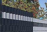 Gartenwelt Riegelsberger Premium Sichtschutzstreifen Hart-PVC für Doppelstabmatten Sichtschutz Streifen 10 Stück LICHTGRAU RAL 7035 mit Länge 2,525 Meter Höhe 19 cm Stärke 1,35 mm