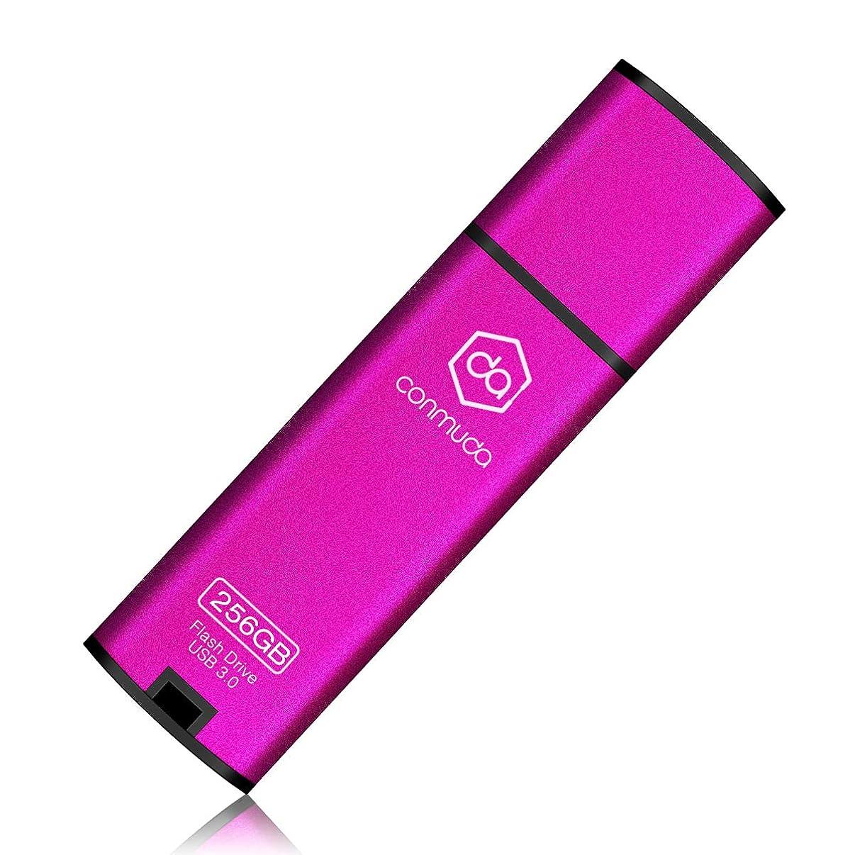 CONMUDA USB 3.0 Flash Drive 128GB Thumb Drive 3.0 Jump Drive Pen Drive Memory Stick Metal High Speed CP08(128gb, Pink)