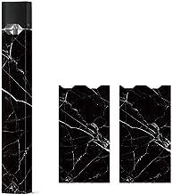 2 Pack - Black Marble Decal Sticker Vinyl Skin for Juul Vape