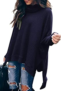 Caracilia Women Turtle Cowl Neck Long Batwing Sleeve...